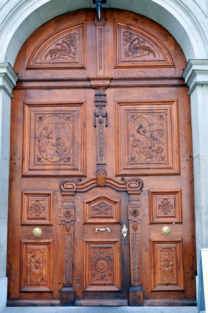 st  gallen: entrada de la iglesia de St Gallen