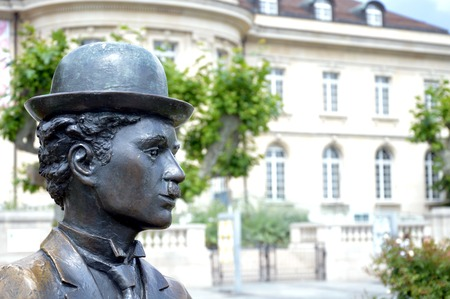 monument of Sir Charles Spencer Chaplin, Jr in Vevey Switzerland