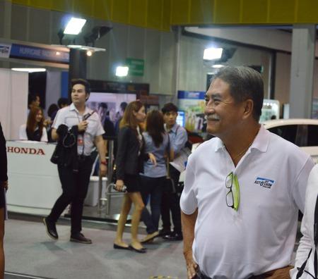 vp: Fast Auto Show2014 BANGKOK, THAILAND- July 4,2014  Mr Pattanadech Arsasubprakit VP of the Show was visiting,Bitec Convention Hall Bangna
