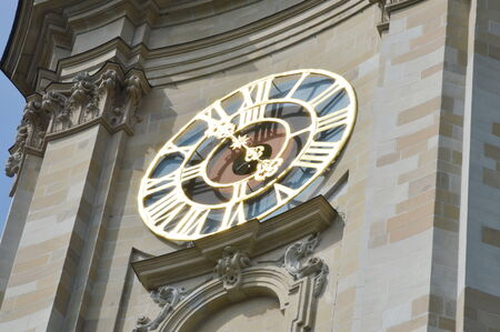 st gallen: St  Gallen church clock tower