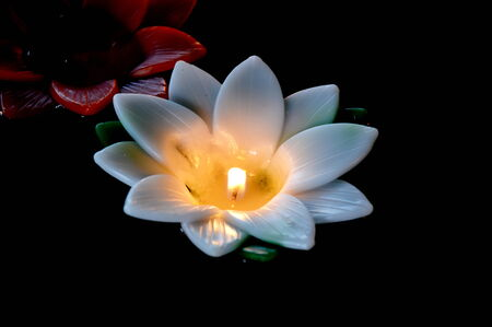 incense lotus candle Banque d'images