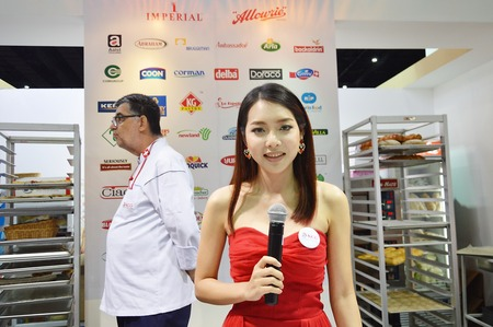Food and Hotel Thailand 2014  BANGKOK, THAILAND- September,2014  event business in food and hotel at Bi tech convention center Bangna Éditoriale