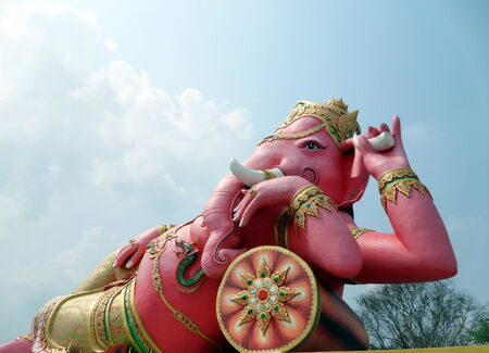 elephant - headed god in pink photo
