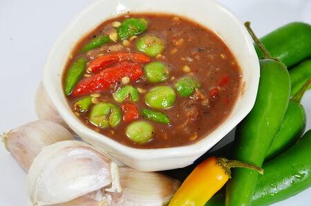 chilli sauce: shrimp paste chilli sauce