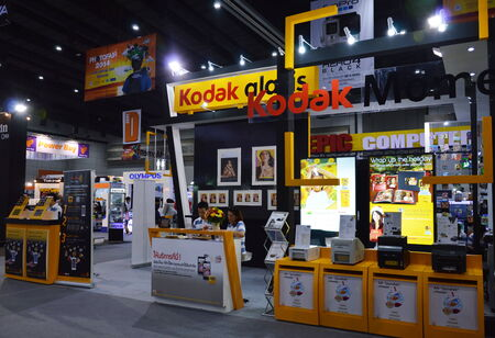 kodak: BANGKOK, THAILAND- November 27,2014 Kodak booth at Thailand Photo Fair 2014, Bitec Convention Hall Bangna