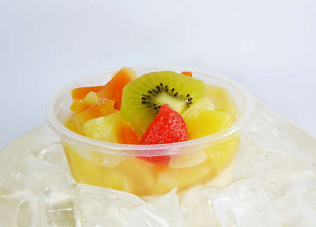 fruit salad on the ice photo