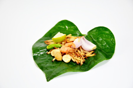 leaf-wrapped bite-size appetizer photo