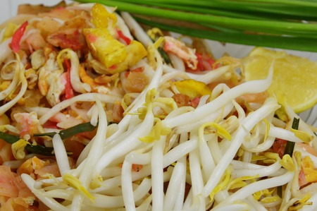 bean sprouts: PadThai topping with bean sprouts Stock Photo