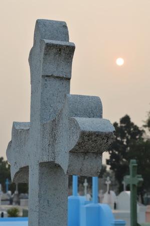 to pass away: graveyard Stock Photo