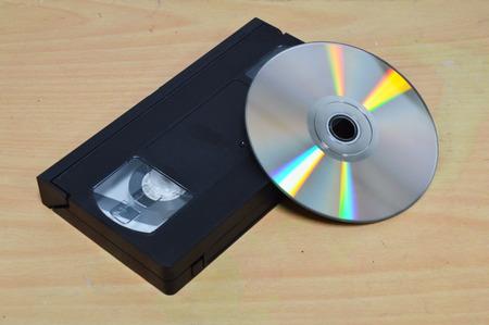 grabadora: videograbadora y el disco