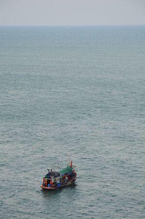 fishery: fishery boat under the sea Stock Photo
