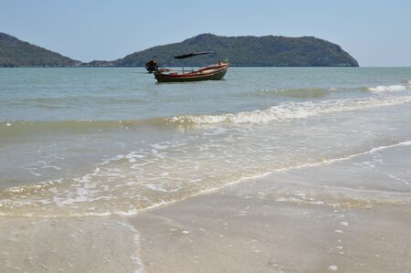 fishery: fishery boat on the seashore
