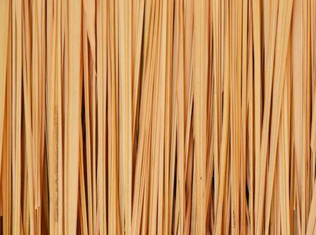 feuille de bambou: toit fabriqu� � partir de feuilles de bambou