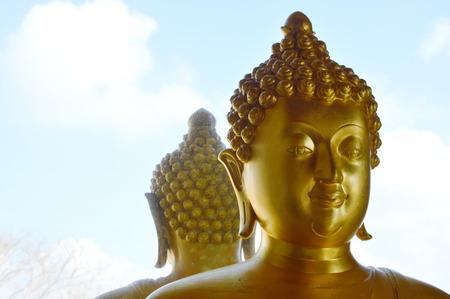 buddha image: Buddha image and back reflection