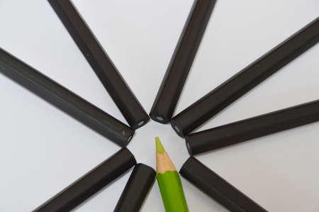 color pencil: color pencil and black pencils