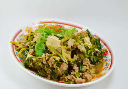 minced: fried tofu with minced pork
