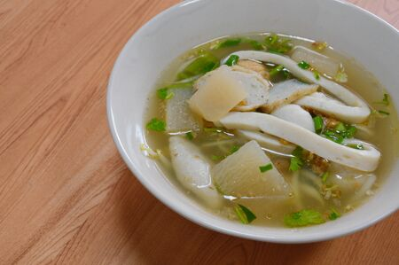 fish ball: kind of fish ball in soup