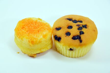 topping: chocolate chip and golden threads topping cup cake