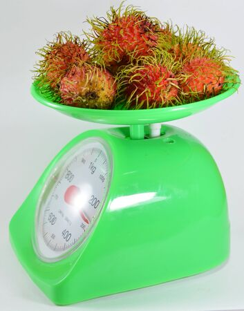 weighting: Rambutan on weighting scale