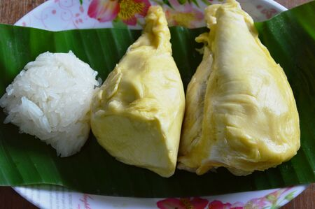 sticky: durian and sticky rice