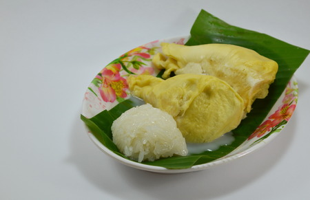 coconut milk: durian and sticky rice dressing coconut milk