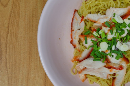 topping: Chinese noodle topping red barbecue pork