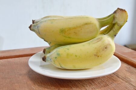 digest: cultivated banana on dish