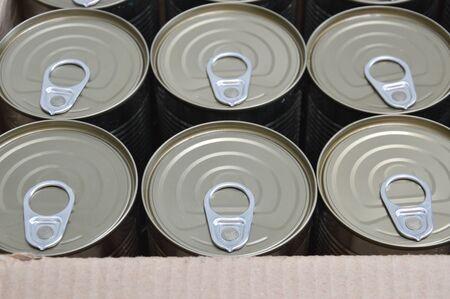tin can: tin can in paper box