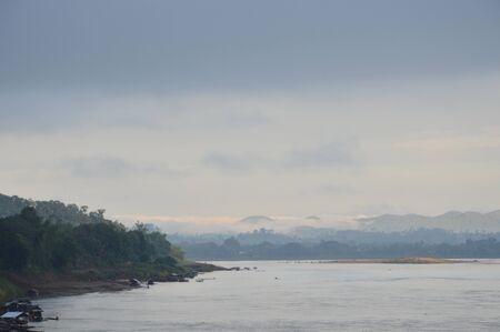 mekong: Mekong River on sunset in Thailand