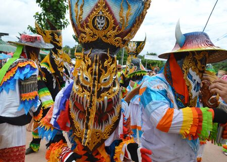 inherit: Loei Thailand June 27, 2015 : Phi Ta Khon is a type of masked procession celebrated Buddhist merit-making holiday Editorial