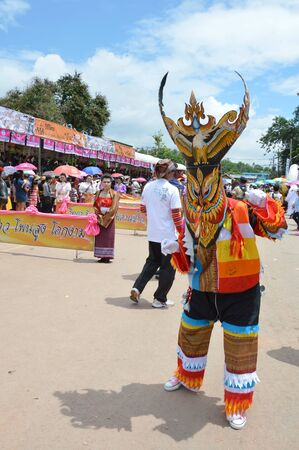 celebrated: Loei Thailand June 27, 2015 : Phi Ta Khon is a type of masked procession celebrated Buddhist merit-making holiday Editorial