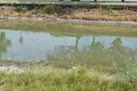 dehydrate: dehydrate canal in Thailand