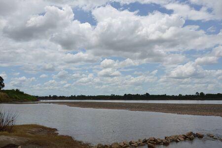 mekong river: Mekong River landscape in Thailand Stock Photo