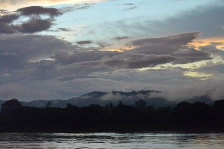 mekong river: Mekong River on sunset in Thailand