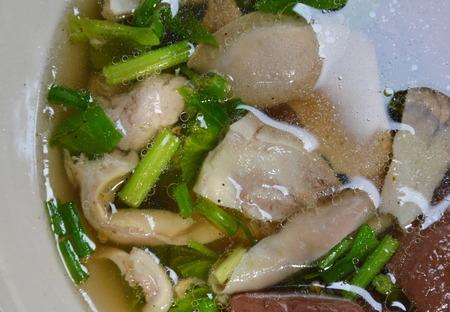entrails: boiled pork entrails in soup