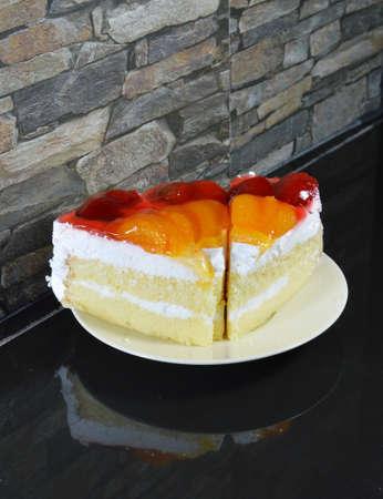 fruit cake: fruit cake on dish
