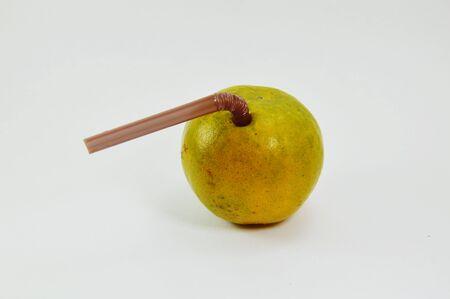 digest: orange and plastic straw