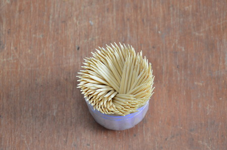 toothpick: toothpick in box container