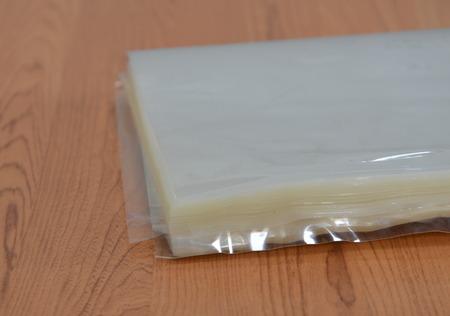 plastic bag: hot plastic bag on table