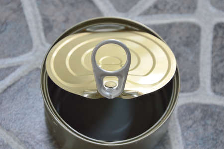food can: opener of empty food can Stock Photo