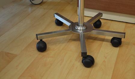 salt water: wheel of pole for hanging salt water Stock Photo
