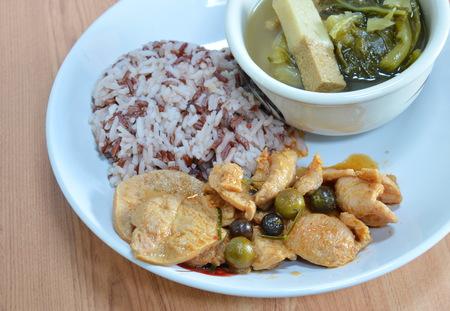 fat food: vegetarian food on dish
