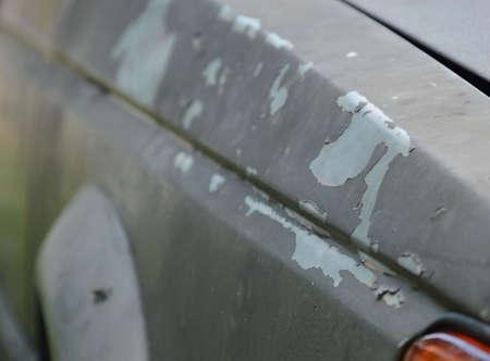 peeling paint: peeling paint on old car