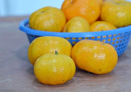 seedless: seedless orange on wooden board