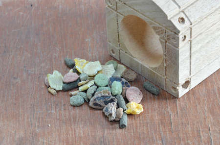 wooden block: pet food and played wooden block