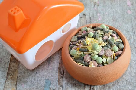 pet food: pet food in pottery and little home