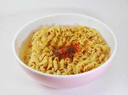 glutamate: instant noodle soft boiled in bowl