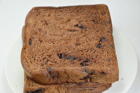 chocolate chip: chocolate chip bread on dish Stock Photo