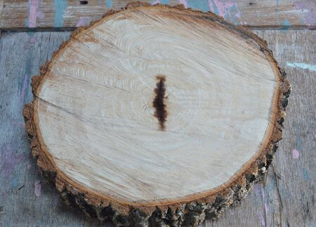 wood cut: tamarind wood cut for made chopping block
