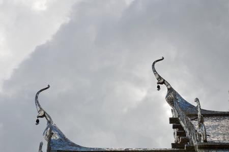apex: gable apex on silver roof church